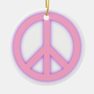 Signo de la paz rosado adorno para reyes