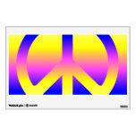 Signo de la paz rosado del arco iris