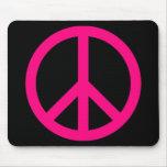 Signo de la paz rosado Mousepad Tapetes De Raton