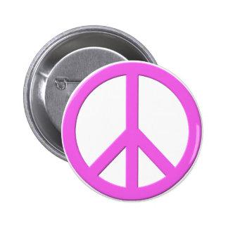 Signo de la paz rosado pins
