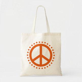 Signo de la paz salvaje del lunar de la mandarina bolsa tela barata
