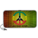 Signo de la paz Selassie I de Jah Rastafari Laptop Altavoces