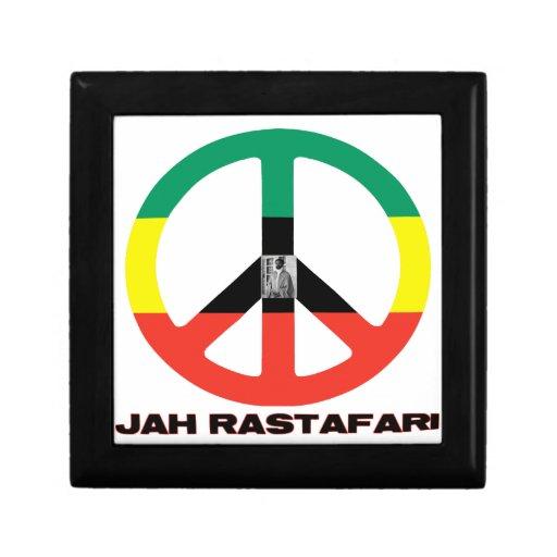 Signo de la paz Selassie I de Jah Rastafari Cajas De Recuerdo