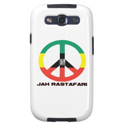 Signo de la paz Selassie I de Jah Rastafari Galaxy SIII Coberturas