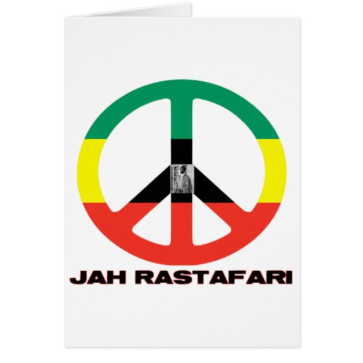 Signo de la paz Selassie I de Jah Rastafari Felicitación