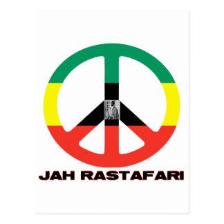 Signo de la paz Selassie I de Jah Rastafari Postal