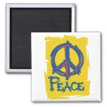 Signo de la paz sucio imán de frigorífico
