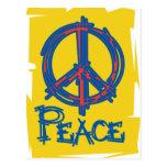 Signo de la paz sucio postal