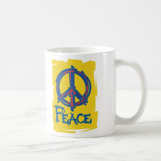 Signo de la paz sucio taza