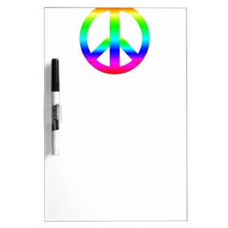Signo de la paz tableros blancos