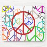 Signo de la paz tapetes de ratones