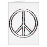 Signo de la paz tarjeta