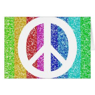 Signo de la paz tarjeta de felicitación