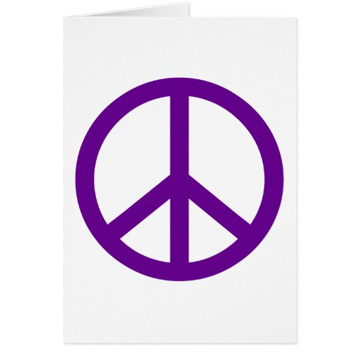 Signo de la paz tarjetón