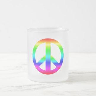 Signo de la paz tazas de café