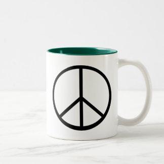 Signo de la paz taza de café
