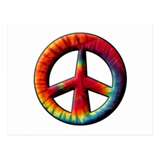 Signo de la paz teñido lazo postales