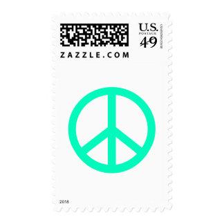 Signo de la paz timbre postal