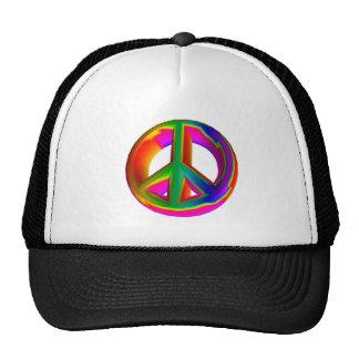 signo de la paz tridimensional #3 del arco iris gorros bordados