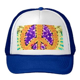 Signo de la paz Trippy brillante del teñido anudad Gorros Bordados