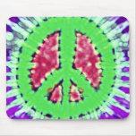 Signo de la paz Trippy brillante del teñido anudad Alfombrilla De Ratones