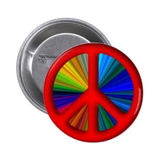Signo de la paz Trippy del Hippie Pin Redondo 5 Cm