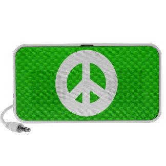 Signo de la paz verde altavoz