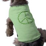 Signo de la paz verde de la cerveza ropa para mascota