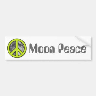 Signo de la paz verde de la luna - pegatina para auto