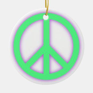 Signo de la paz verde ornato