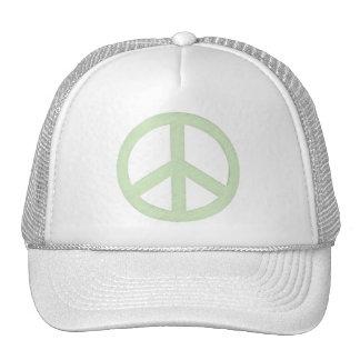 Signo de la paz verde en colores pastel gorra