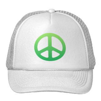 Signo de la paz verde gorro