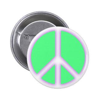 Signo de la paz verde pins