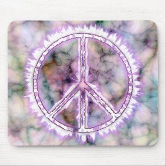 Signo de la paz vivo de la energía eléctrica del r alfombrillas de ratones