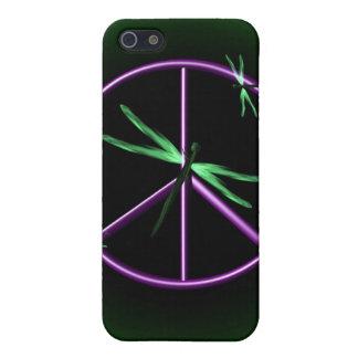 Signo de la paz y libélula iPhone 5 protector