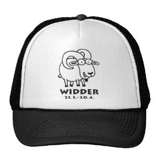 Signo del zodíaco widder gorras de camionero