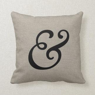"""Signo """"&"""" elegante rústico almohadas"""