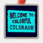 Signo positivo colorido del trullo de Colorado Ornamento Para Arbol De Navidad