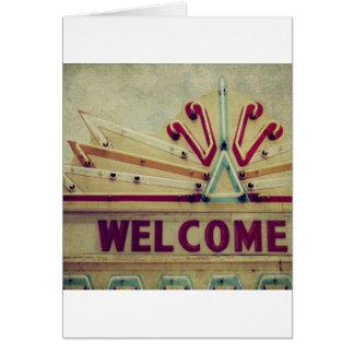 Signo positivo de la carpa tarjeta de felicitación