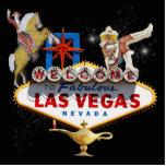 Signo positivo de Las Vegas en fondo estrellado Esculturas Fotograficas
