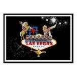 Signo positivo de Las Vegas en fondo estrellado Tarjeta De Visita