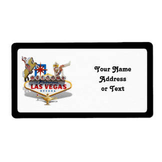 Signo positivo de Las Vegas Etiquetas De Envío
