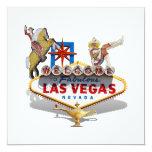 Signo positivo de Las Vegas Invitación 13,3 Cm X 13,3cm