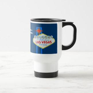 Signo positivo de Las Vegas Taza De Viaje De Acero Inoxidable