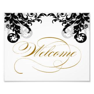 signo positivo del boda del Flourish 8x10 para enm Impresiones Fotográficas