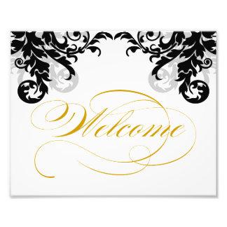 signo positivo del boda del Flourish 8x10 para enm Fotografía