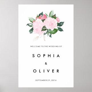 Signo positivo grande romántico elegante del boda póster