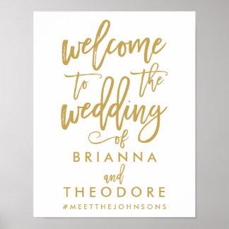 Signo positivo indicado con letras del boda del póster
