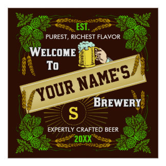 Signo positivo personalizado de la cervecería/de l póster