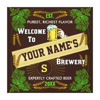 Signo positivo personalizado de la cervecería/de lona envuelta para galerías